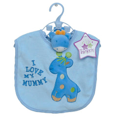 3 Pcs Giraffe Bib & Rattle Set