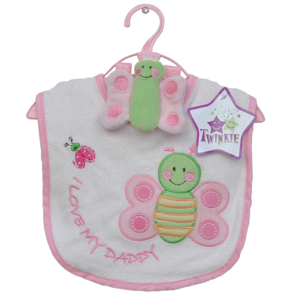 Butterfly Bib & Toy Set