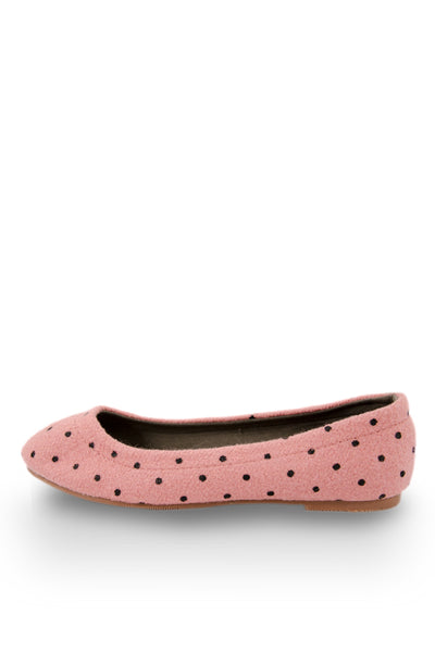Pink Little Black Dot Flats