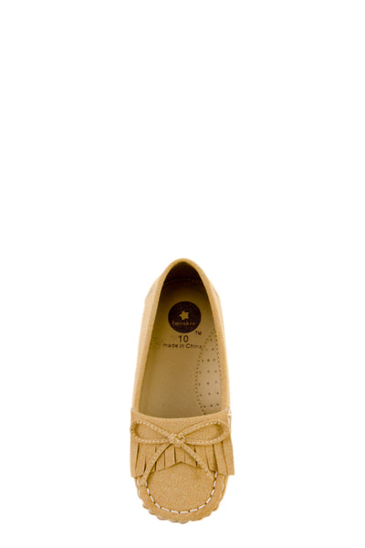 Sand Whip-Stitch Accent Flats