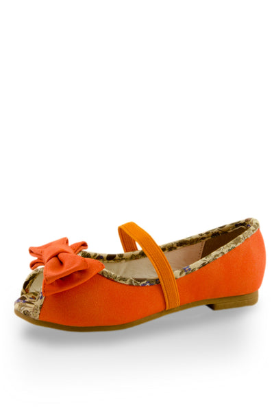 Orange Flower Prints Foot Bed Flats at Twinkie