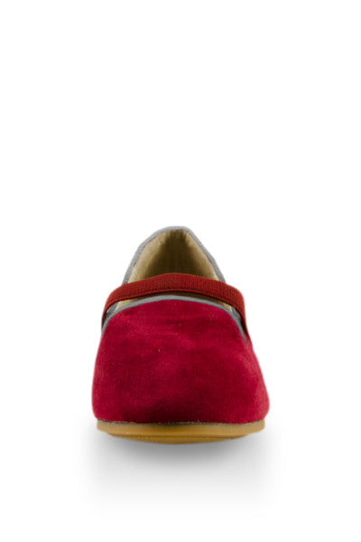 Red Easy Slip On Flats with elastic strap at Twinkie