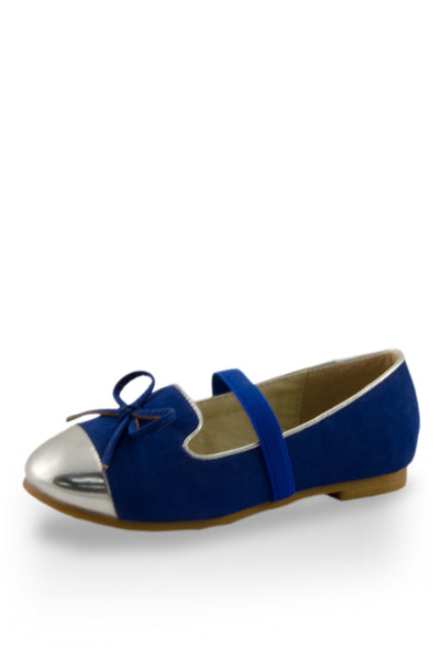 Blue Mirror Shoe Toe Slip On Flats at Twinkie