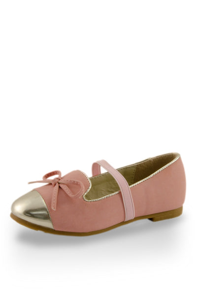 Pink Mirror Shoe Toe Slip On Flats at Twinkie