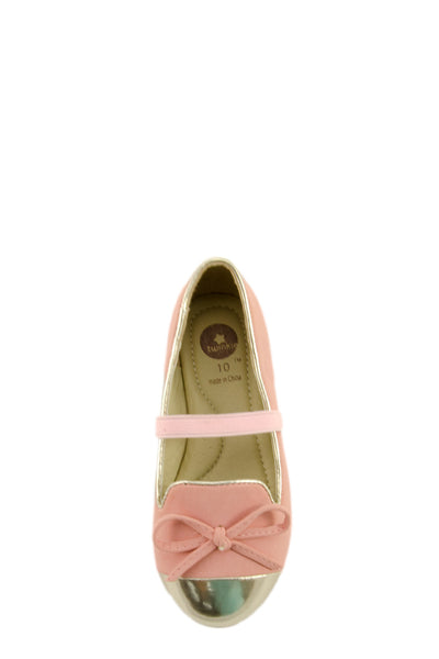 Pink Mirror Shoe Toe Slip On Flats top view at Twinkie