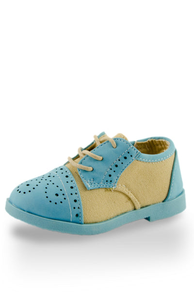 Blue Little Oxford Shoes in Blue from Twinkie