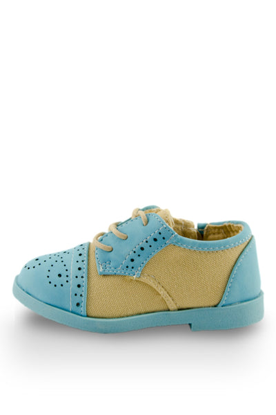 Little Oxford Shoes in Blue side view at Twinkie
