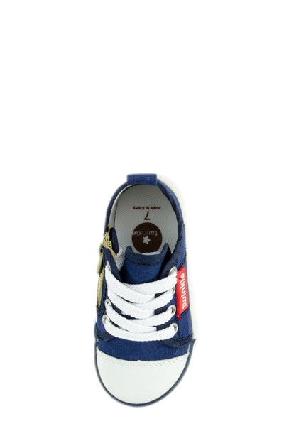 Navy Blue Daytime Cruising Canvas Sneakers