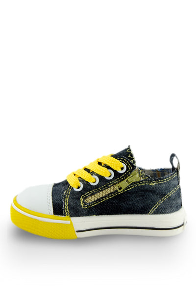 Yellow Little Rock Star Washed Denim Sneaker