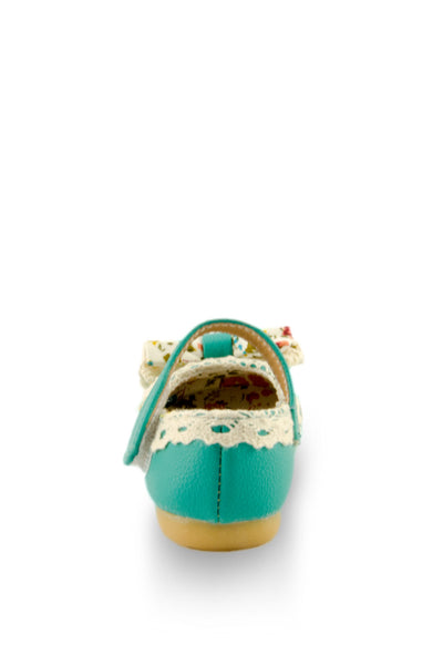 Blue Little Lady Lacy Bow Mary Jane Shoes