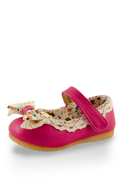 Pink Little Lady Lacy Bow Mary Jane Shoe at Twinkie