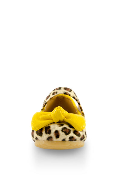 Yellow Trendsetter Leopard Mary Jane Shoes