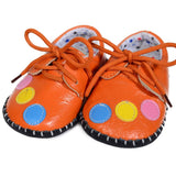 Orange Bubbles Soft Leather Training Shoes at Twinkie
