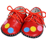 Red Bubbles Soft Leather Training Shoes at Twinkie
