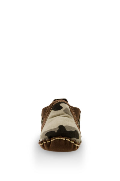 Army Print Baby Canvas Shoes toe view at Twinkie