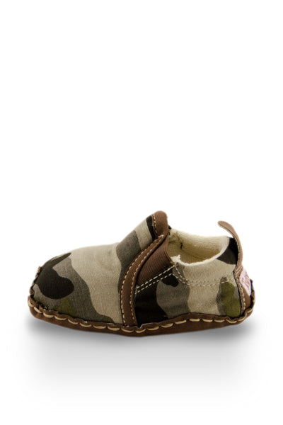 Army Print Baby Canvas Shoes side view at Twinkie