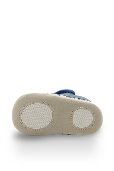 Blue ABC Mini Training Shoes soft sole view at Twinkie