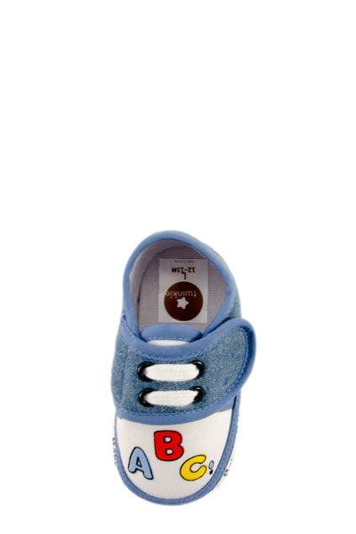 Blue ABC Mini Training Shoes top view at Twinkie