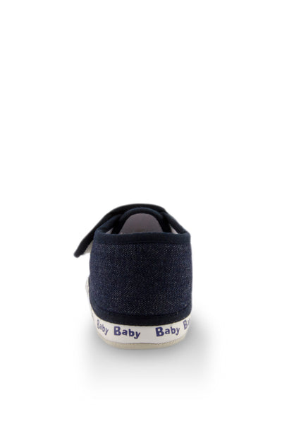 Navy Blue ABC Mini Training Shoes heel view at Twinkie