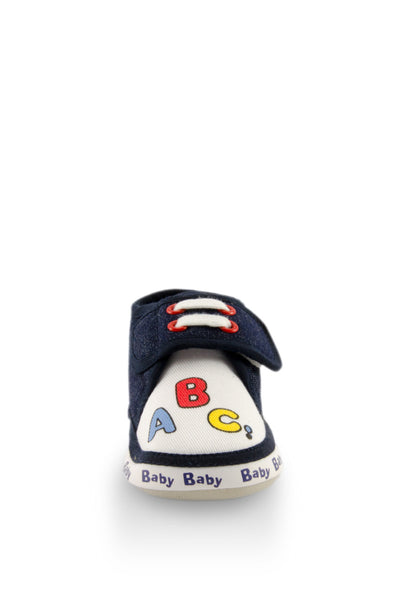 Navy Blue ABC Mini Training Shoes toe view at Twinkie