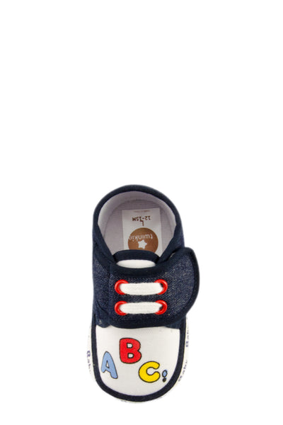 Navy Blue ABC Mini Training Shoes top view at Twinkie