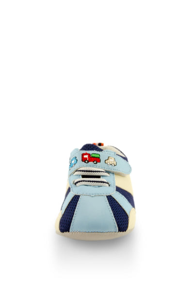 Blue Baby Speedy Sport Mini Training Shoes toe view at Twinkie