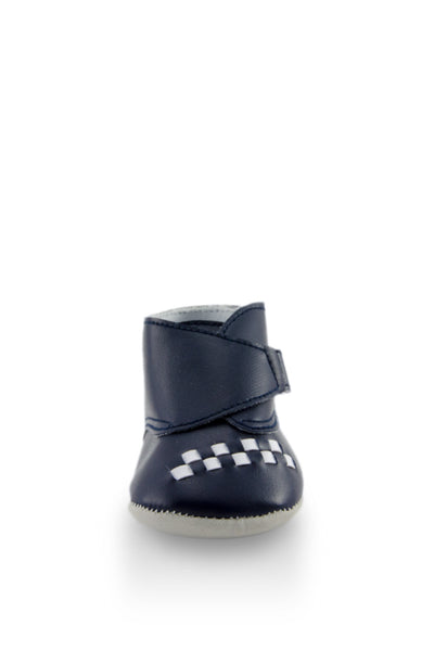 Navy Blue Baby Euro High Cuff Mini Training Shoes toe view at Twinkie