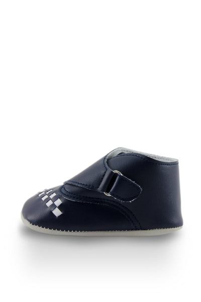 Navy Blue Baby Euro High Cuff Mini Training Shoes side view at Twinkie