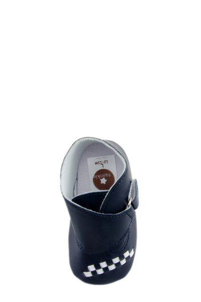 Navy Blue Baby Euro High Cuff Mini Training Shoes top view at Twinkie