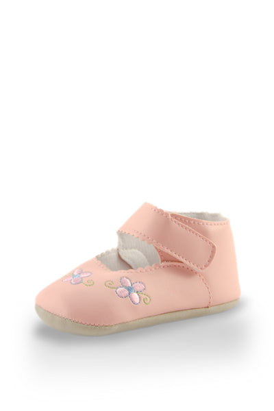 Pink Flower Embroidery Mini Training Shoes at Twinkie