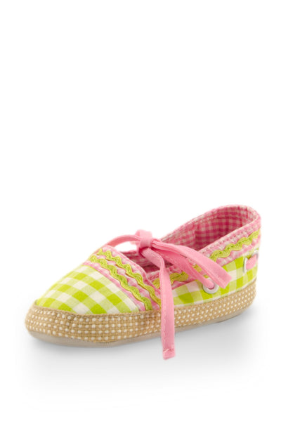 Pink on Green Checker with Ribbon Training Shoes at Twinkie
