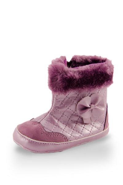 Fashionable Purple Faux Fur High Cuff Boot at Twinkie