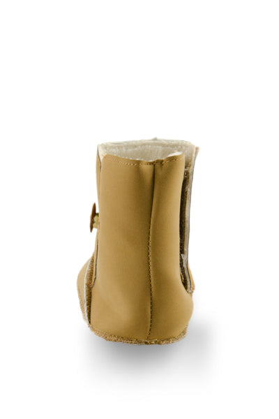 Beige Baby Girl Beautiful Beige High Cuff Fleece Boots