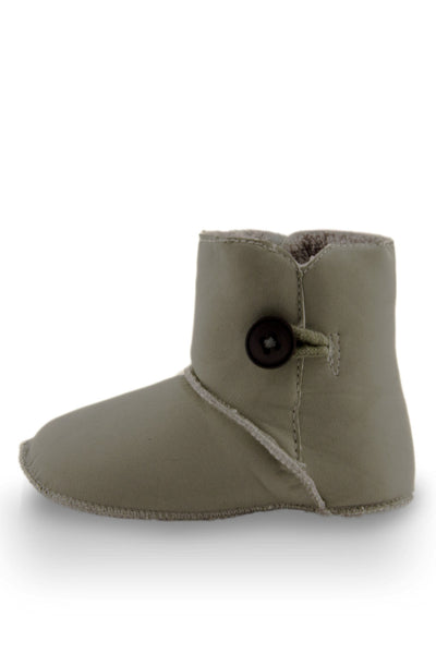 Grey Baby Girl Beautiful Beige High Cuff Fleece Boots