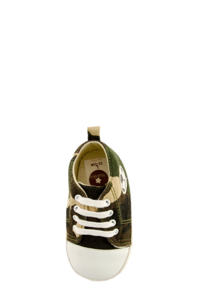 Camouflage Canvas Mini Training Shoes top view at Twinkie