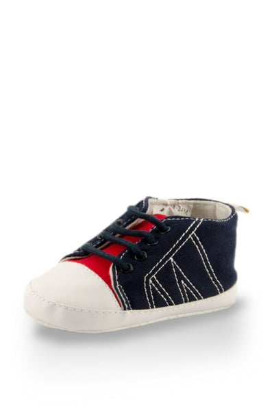 Adorable Lace Up Denim Style Training Shoes
