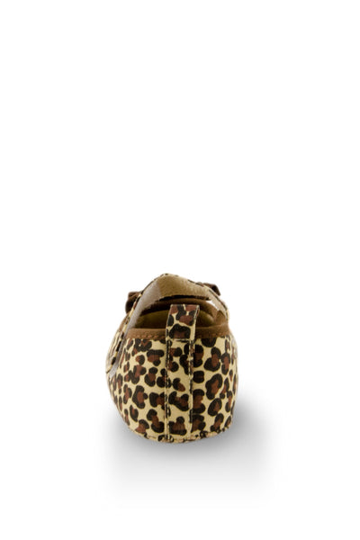 Brown lovely Leopard Print Shoes heel view at Twinkie