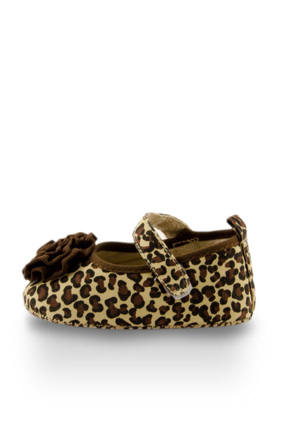 Brown lovely Leopard Print Shoes side view at Twinkie