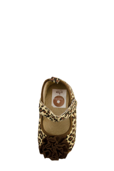 Brown lovely Leopard Print Shoes toe view at Twinkie