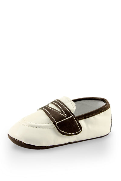 White European Boat Shoe Mini Trainer