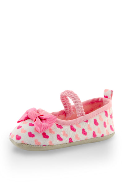 Hot Pink Hearts Printing Mini Training Shoe