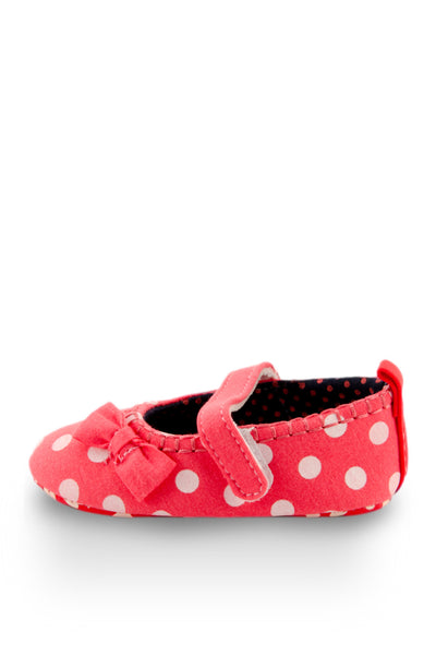 Pink Polka Dots Flats Training Shoe