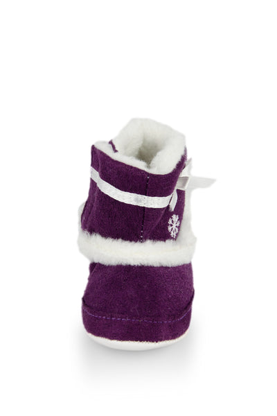 Purple Snowflaskes High Cuff Furry Training Boot