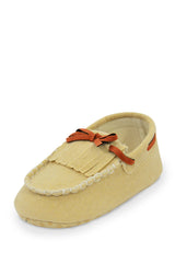 Beige Mini Whip-Stitch Moc Training Shoe