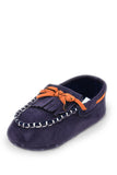 Navy Blue Mini Whip-Stitch Moc Training Shoe