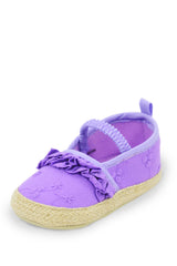Violet Frilly Flower Slip On Training Shoe