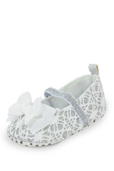 White Bow Mary Jane Style Training Shoe