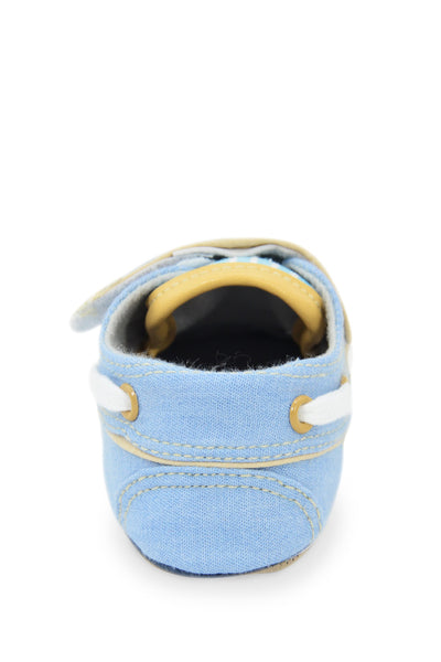 Light Blue Denim Oxford Striped Training Shoe