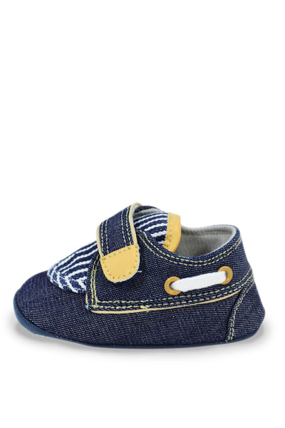 Navy Blue Denim Oxford Striped Training Shoe