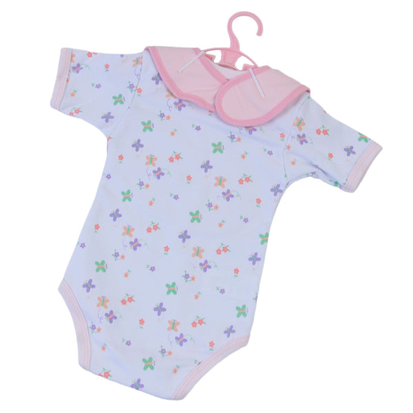 3 Pcs Baby Suit & Bib Set